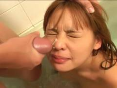 Small bonker Asian hairy cunt felt out!