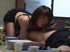 Sexy Mira Sugihara kitchen cock sucking
