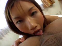 Maria Fujisawa tongues brown eye and sucks penni