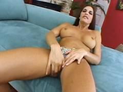Busty Cheyenne Rubbing Her Slit