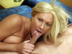 Older MILF Fellatio Off a Shaft