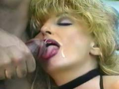 Mature Blonde Gets Sperm Facial