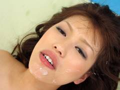Rika Nagasawa gets cum on mouth and in hair