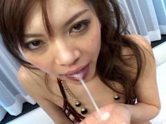 Sexy Japanese slut gets nailed by 2 horny men